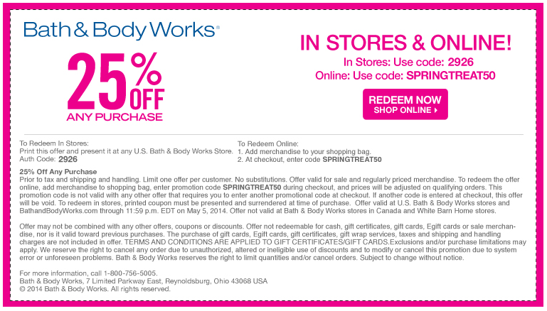 Pinned april 30th 25 off at bath body works or online via pinned april 30th 25 off at bath body works or online via promo code springtreat50 coupon via the coupons app fandeluxe Gallery
