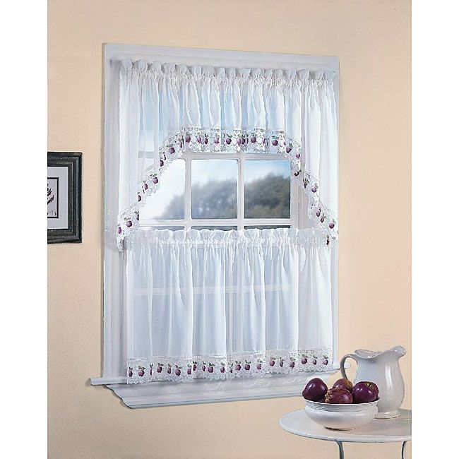 Apple Orchard Kitchen 5 Piece Window Tier And Swag Set