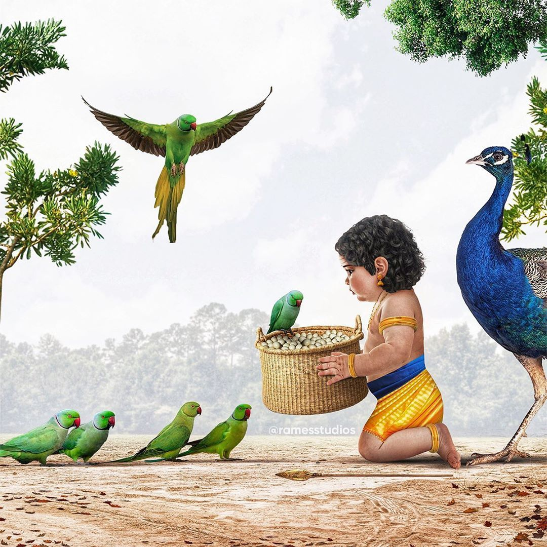 Rames Harikrishnasamy On Instagram Conceptart Dear Parrots Here S Your Eggs We Ve Sav In 2020 Lord Vishnu Wallpapers Lord Krishna Wallpapers Lord Shiva Painting