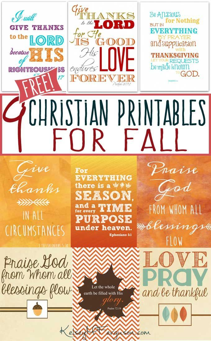 9 ((Free)) Christian Printables for Fall Free bible, Christian - free printable religious easter cards