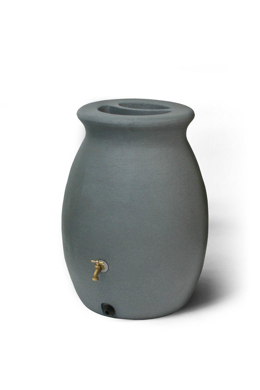 Amazon Com Algreen Products Castilla 50 Gallon Rain Barrel With Brass Spigot Rain Barrel Barrel Gallon