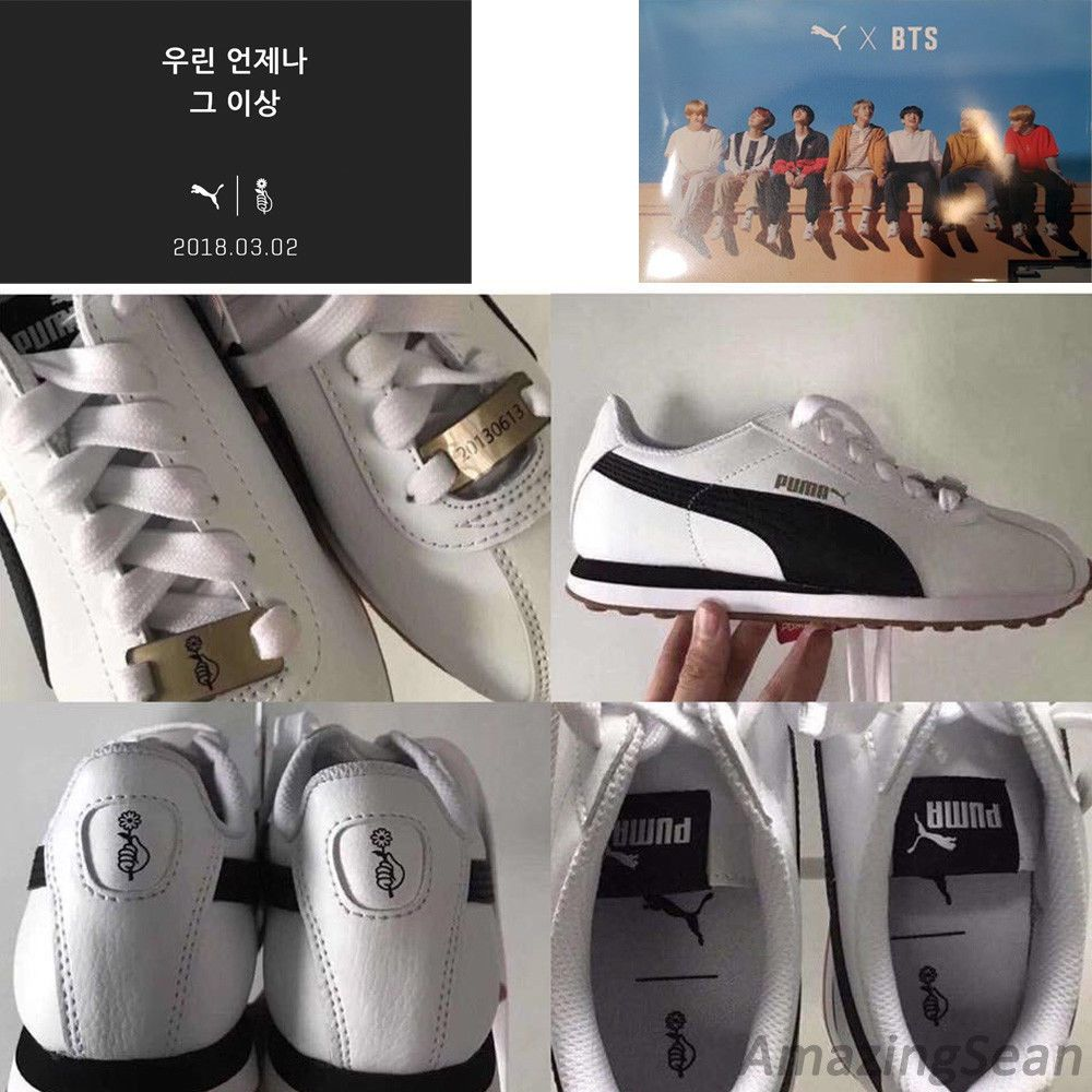 82e67022167301 BTS Official Goods - PUMA X BTS TURIN Shoes + Photo Card