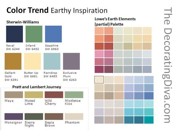 Nature Inspired Paint Color Palettes