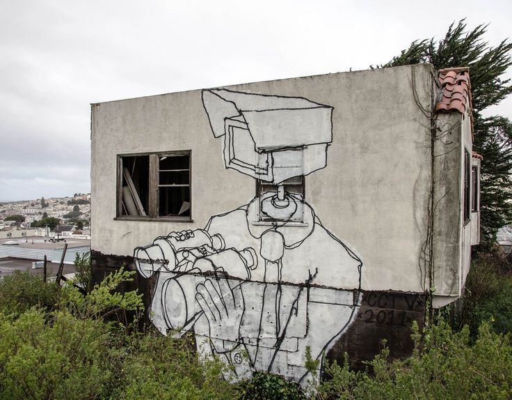 Cctv Video Surveillance Graffiti Street Art