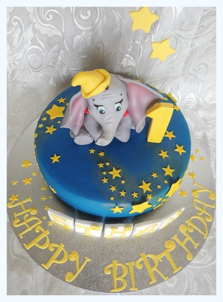 Astonishing Dumbo Birthday Cake Cake By Kylie Www Cakebykylie Com Au Www Birthday Cards Printable Trancafe Filternl