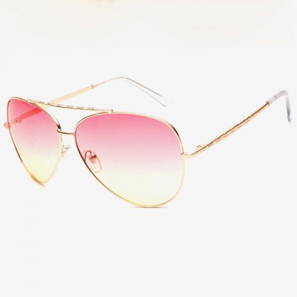 14563b7f68  2.42 Chic Gradient Color Lenses Special Cruciform Sunglasses For Women  Aviator