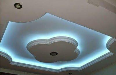 false Gypsum ceilings designs with blue ceiling lighting ideas for living  room - False Gypsum Ceilings Designs With Blue Ceiling Lighting Ideas For