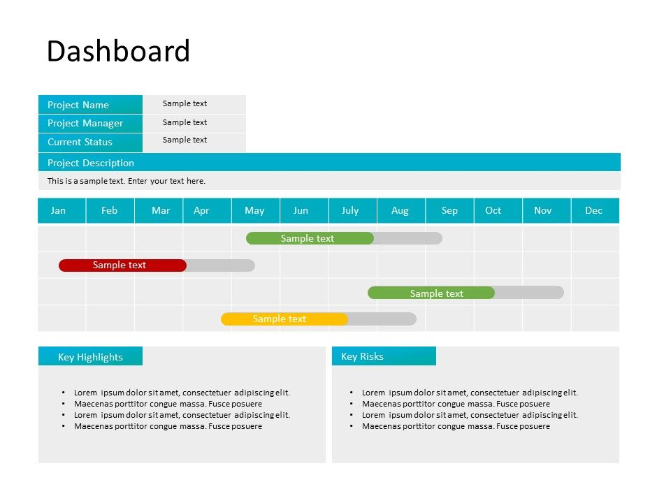 Project Dashboard Powerpoint 1 Project Dashboard Powerpoint