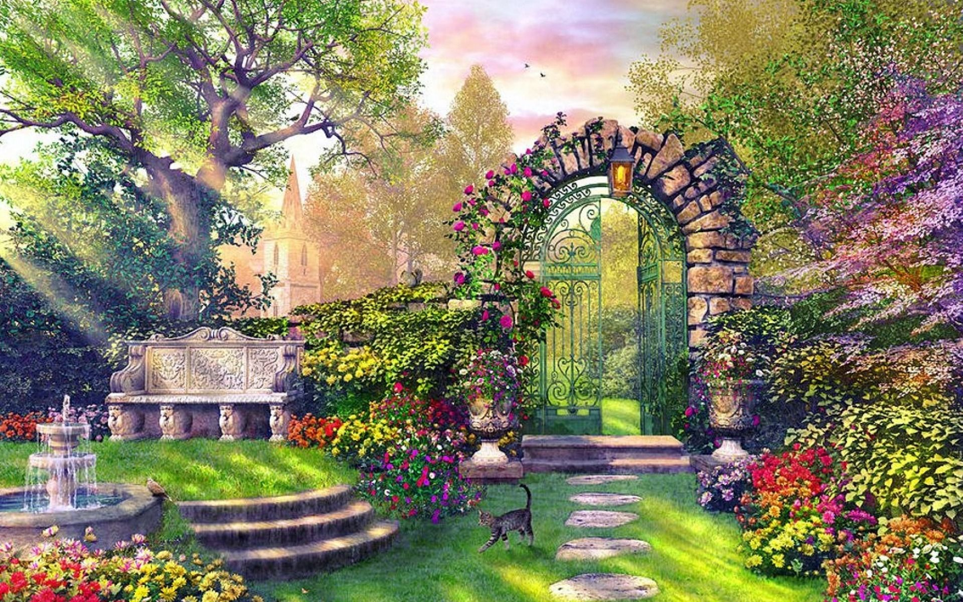 Enchanting Garden wallpapers   Anime scenery, Fantasy art landscapes, Anime  backgrounds wallpapers