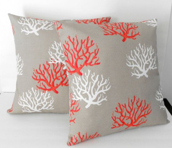 com amazon of indoor coral dp decorative pillow outdoor pillows quot throw set square