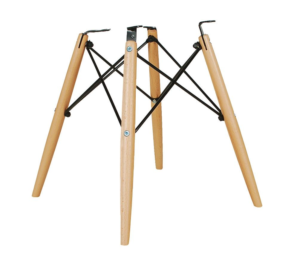 dowel leg chair base fits herman miller eames shell mid century