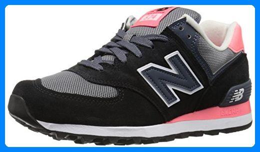 New Balance Damen 574 Laufschuhe, Mehrfarbig (Black/Pink ...
