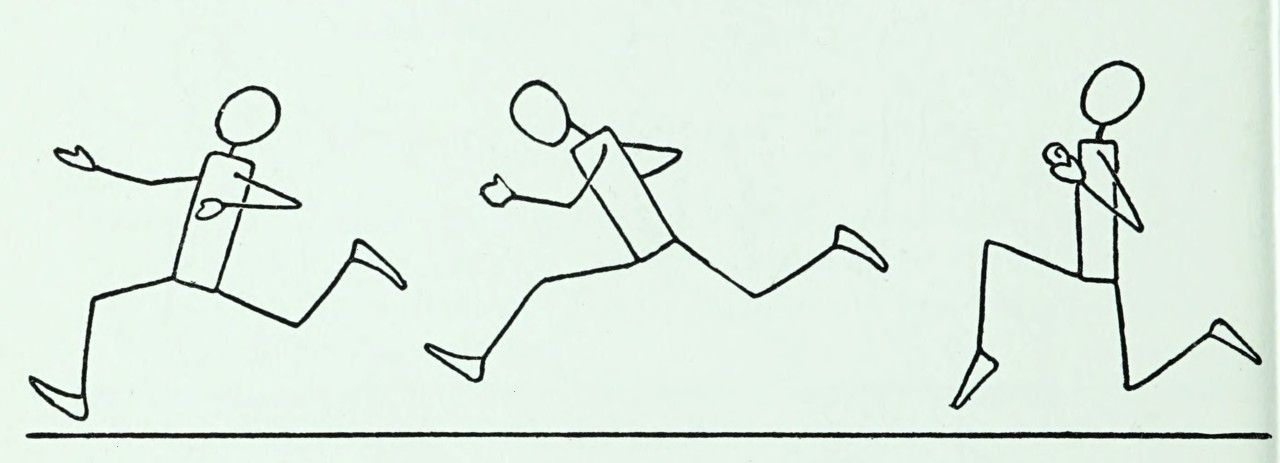 #exercise #internet #running #nemfrog #archive #drawing #fitness #figure #stick #speed #1940s #draw...
