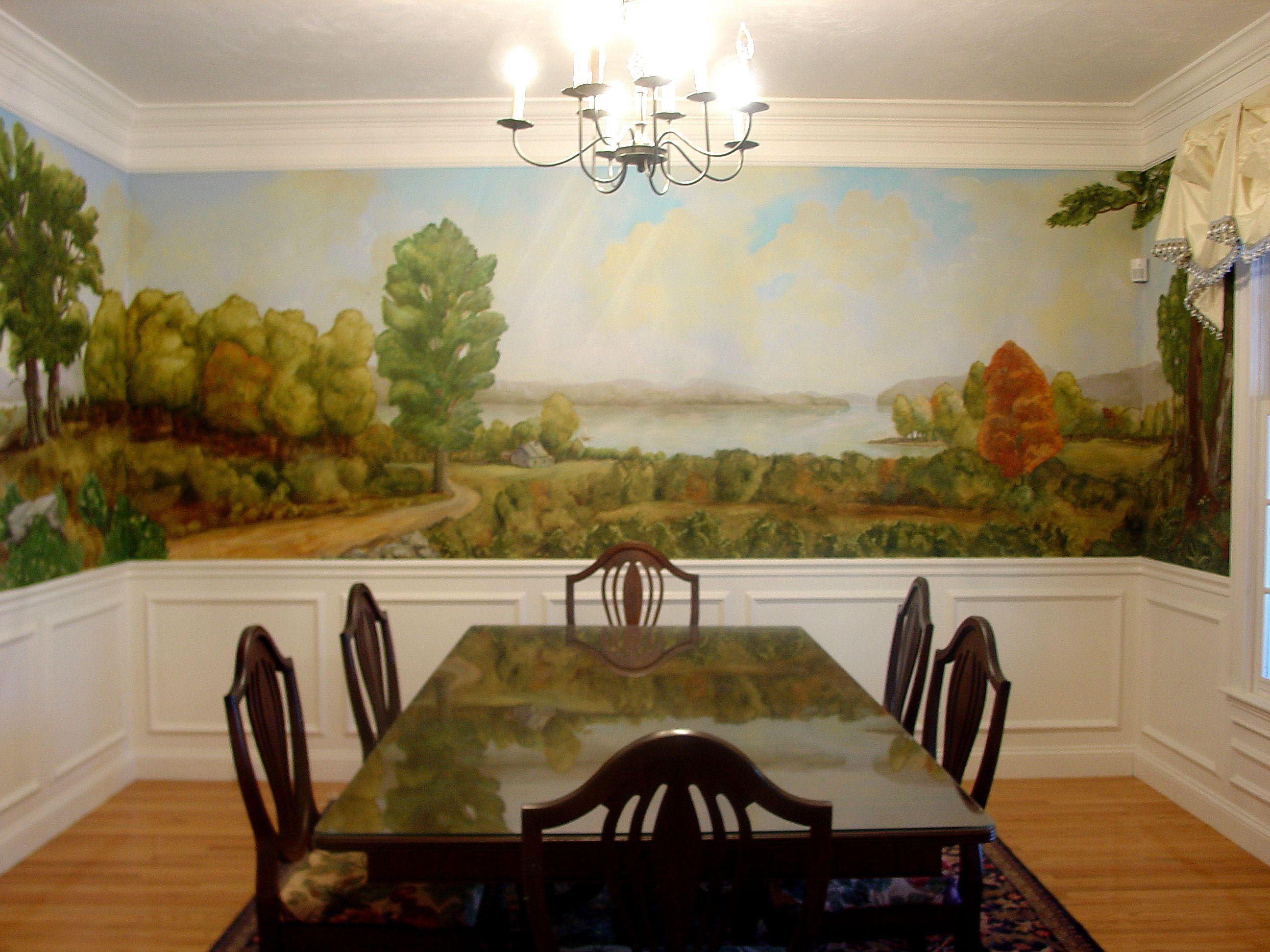 13+ Dining room wall murals inspirations