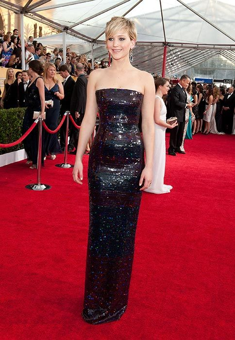 Jennifer Lawrence at the 2014 Screen Actors Guild Awards in 2014. Photo: © Getty Images