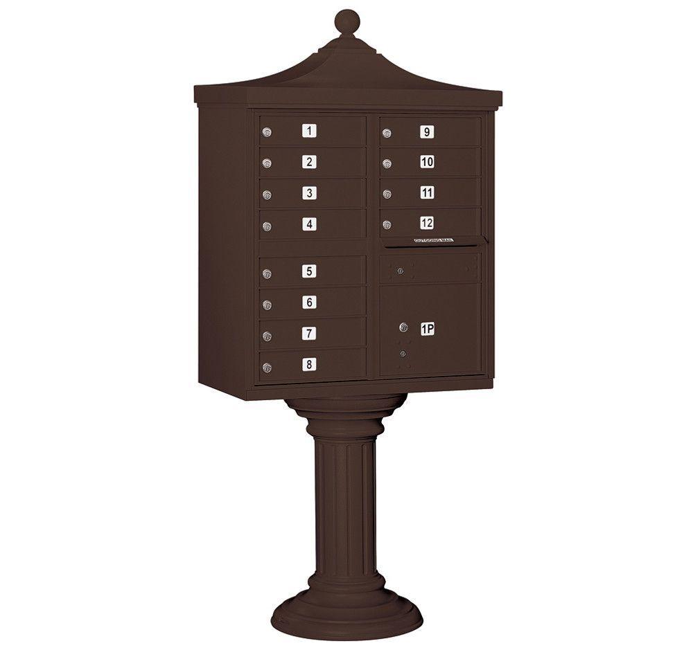 Regency 12 Door Rear Load 4C Horizontal Cluster Box Unit with 1 Parcel Locker