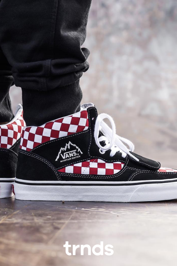 Vans Mountain Edition Checkerboard Red