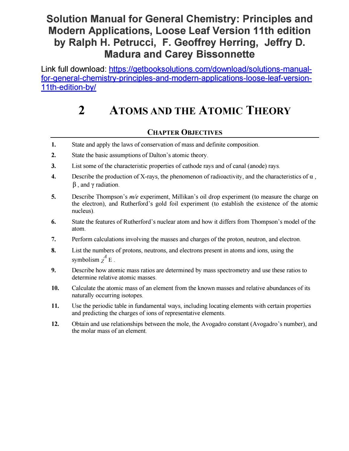 Solutions Manual General Chemistry Principles Modern
