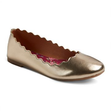 a5650038541 Girls  Belle Scalloped Edge Ballet Flats Cat   Jack™ - Gold