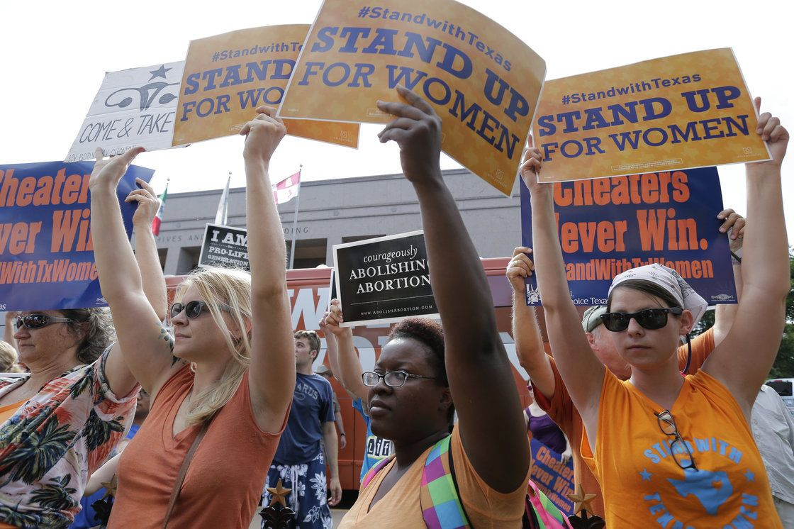 Federal Judge Blocks Texas Restriction On Abortion Clinics    NPR Opponents and supporters of a law that restricts abortion in Texas rallied outside the Texas Capitol in Austin as the bill was debated in Ju...