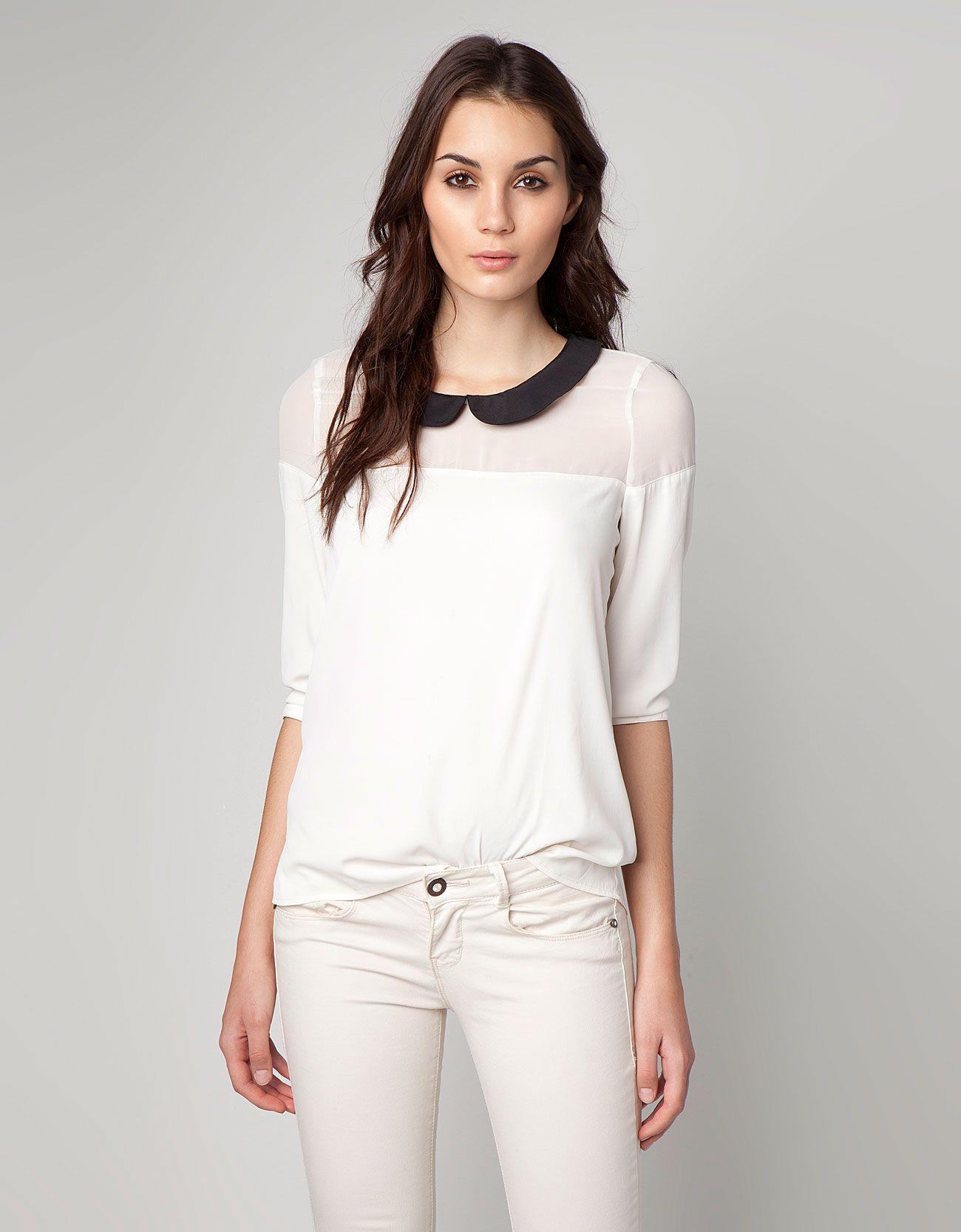 ae599dc51aa4 Bershka Slovakia - Bershka neck detail blouse