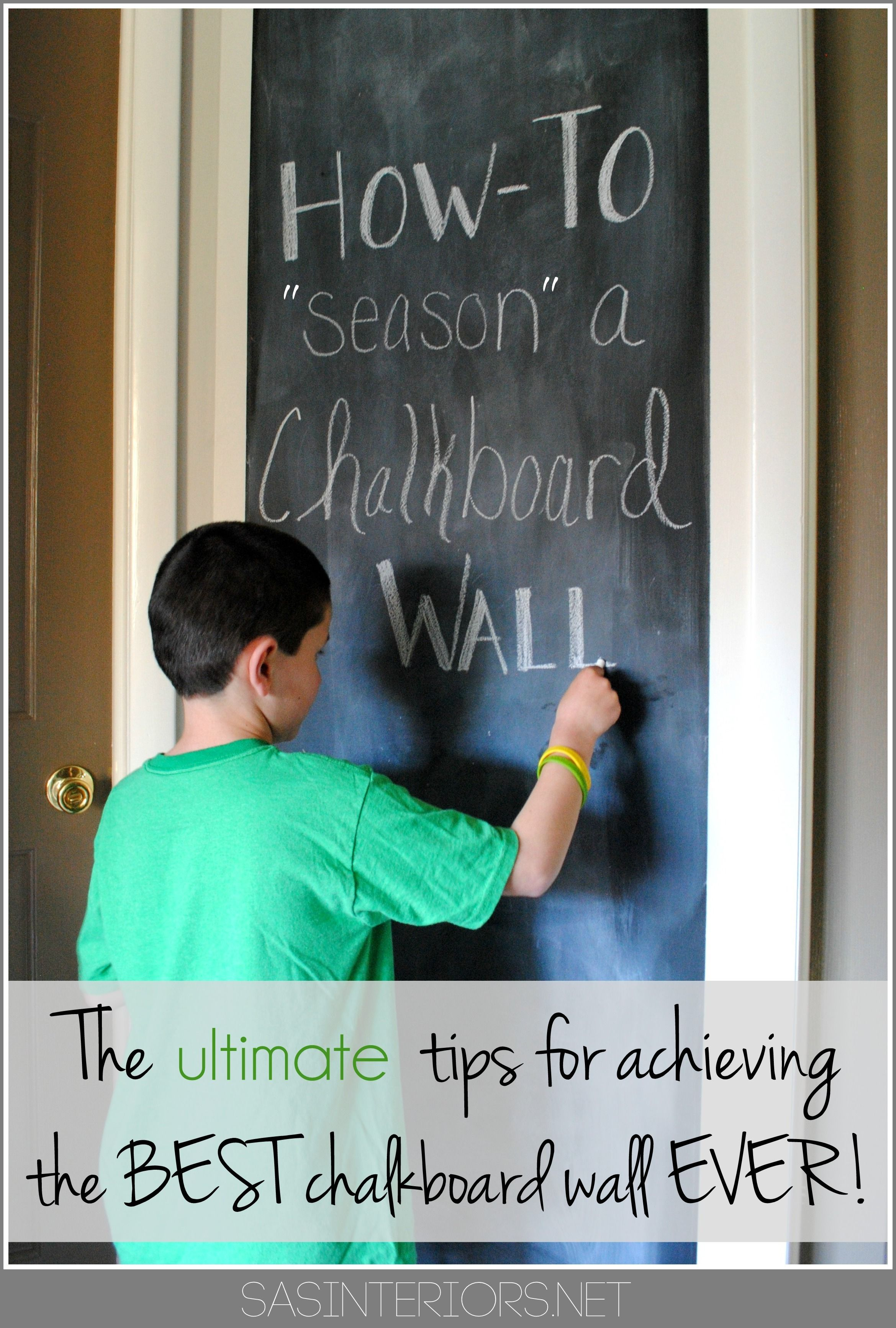 How-To PREP + \'SEASON\' a Chalkboard Wall before using it. It\'s the ...