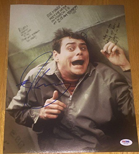Jim Carrey Signed Autograph dumb  Dumber Bathroom 11x14 Photo X52187  PSADNA Certified