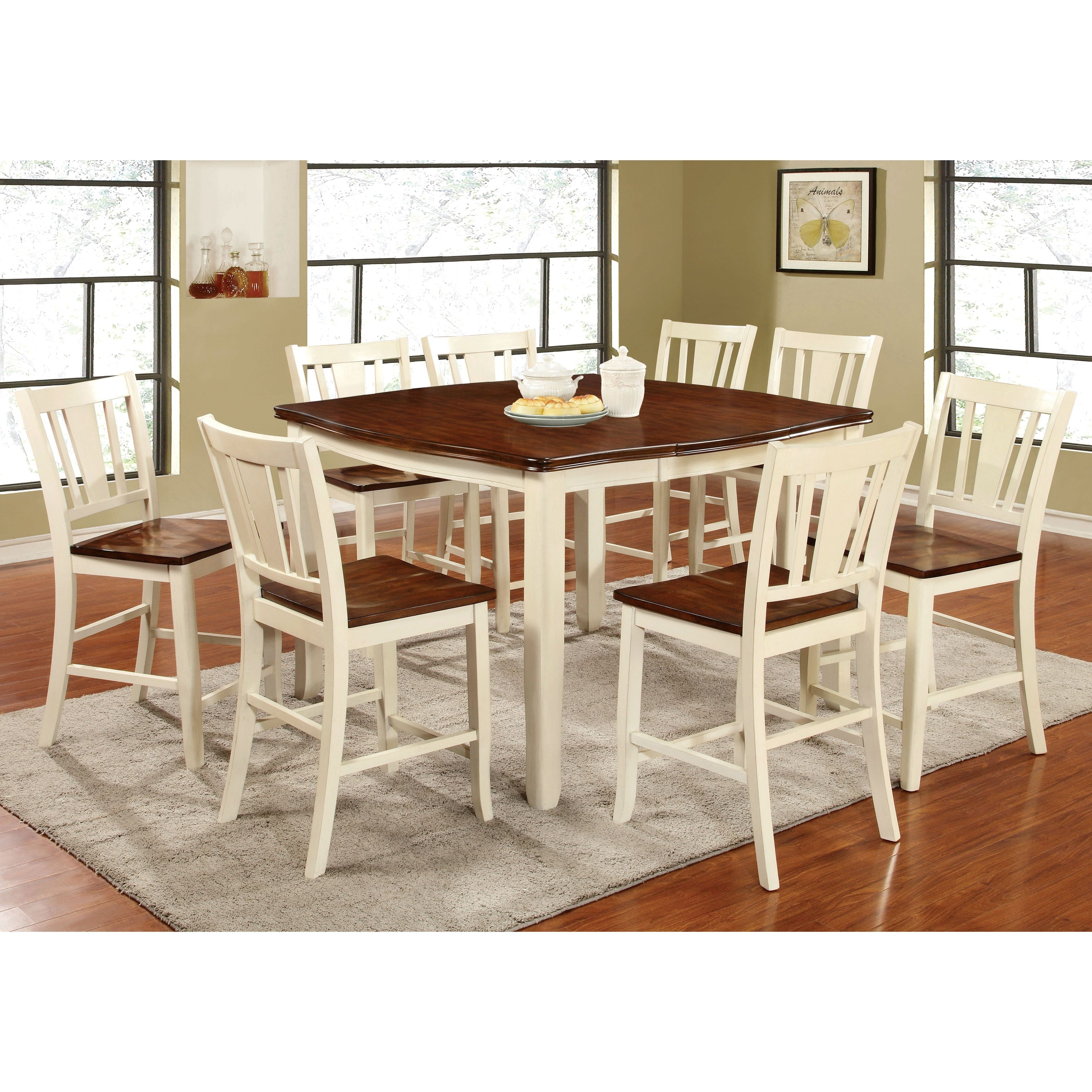 Merveilleux Furniture Of America Betsy Jane 9 Piece Country Style Counter Height Dining  Set (Antique