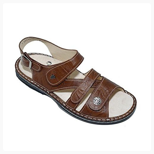 Finn Comfort Soft Gomera Womens Sandals, Cognac Plisseelight, Size - 43  (*Partner