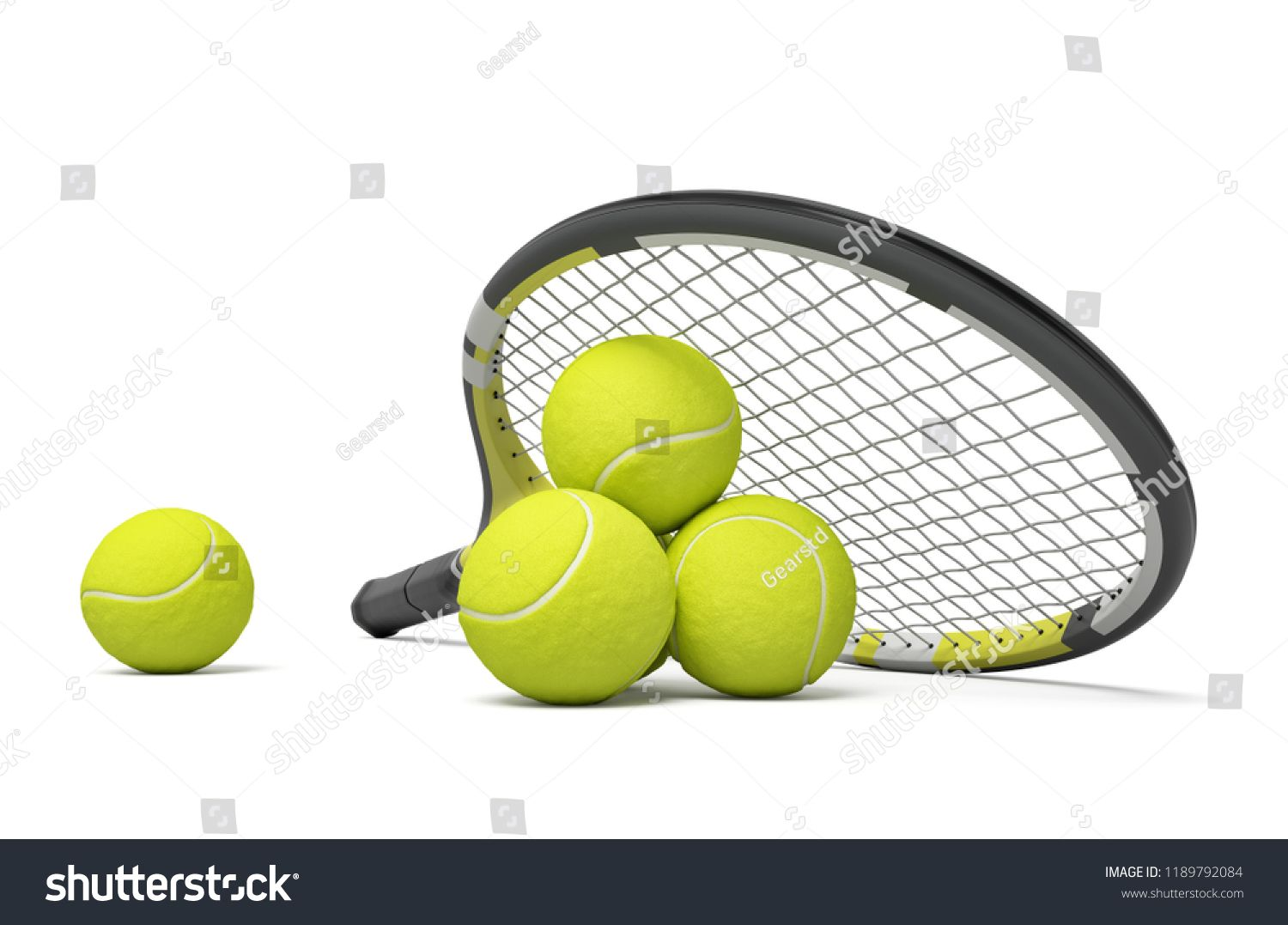 3d Rendering Single Tennis Racquet Lying Royalty Free Image Illustration In 2020 Tennis Racquet Racquets Tennis