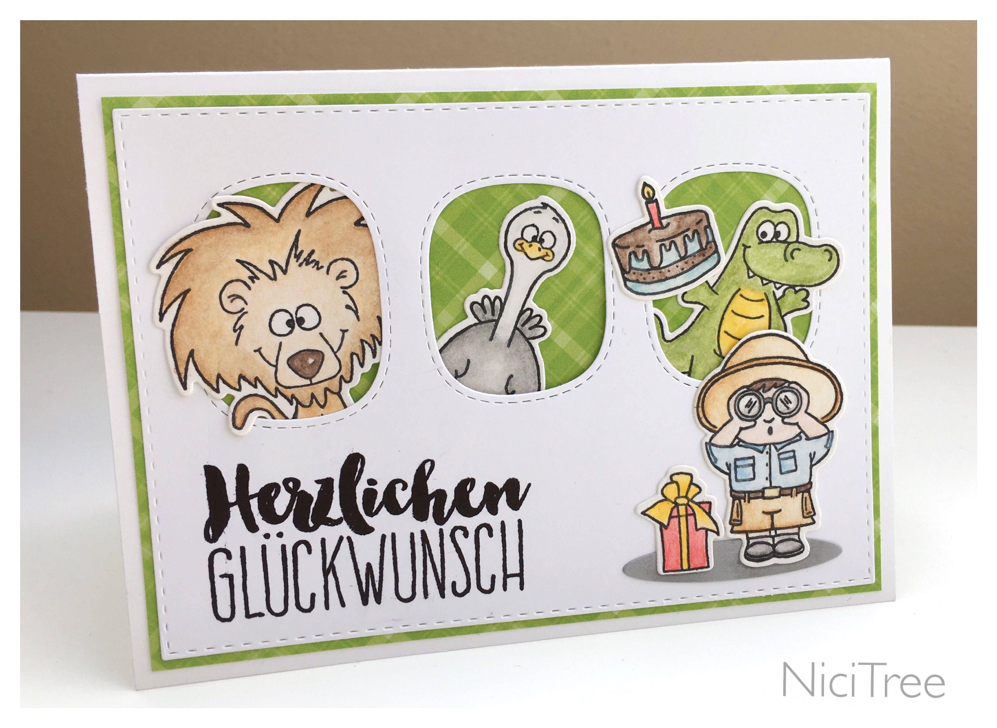 Kindergeburtstag Birthday Card Geburtstag Party Animals Go Wold