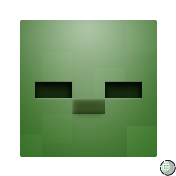 Minecraft Zombie Head Icon By Coopad On Deviantart Zombie Head Zombie Minecraft
