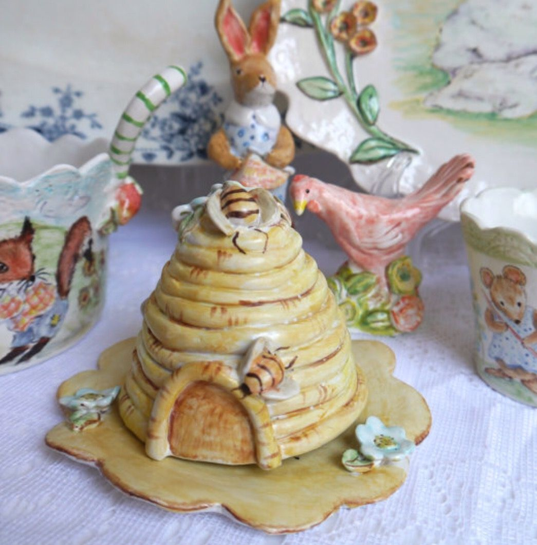 Ceramic Bee Skep By Cynthia Cranes Pottery On Etsy