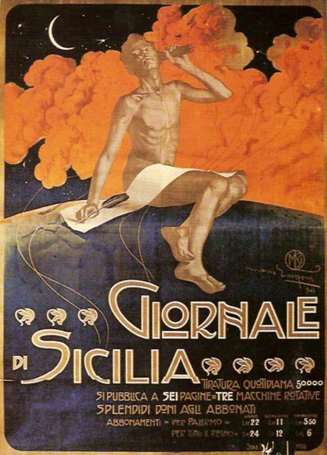 Mario Borgoni (1869-1936, Italy), Giornale di Sicilia.