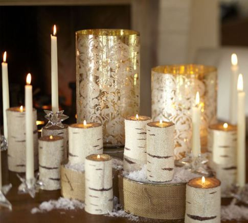 Birch Flameless Candles Pottery Barn Christmas Candles