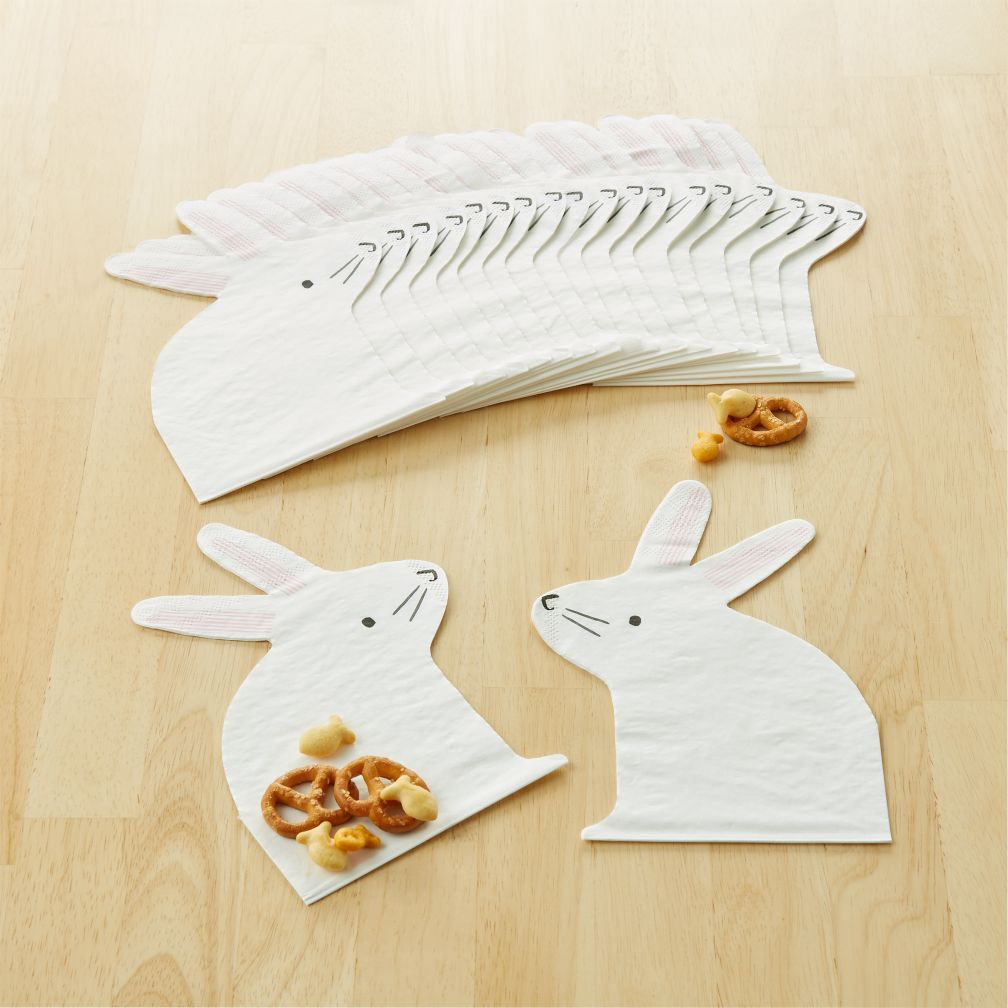 Shop Easter Bunny Napkins, Set of 16. Hop into your next celebration with these Meri Meri Easter Bunny Napkins. The set includes 16 party napkins with a playful, bunny-shaped design that's perfect for little ones.