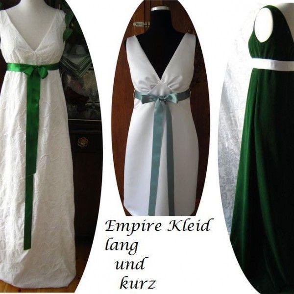 Empirekleid - Schnittmuster & Bildnähanleitung Victoria Gr ...