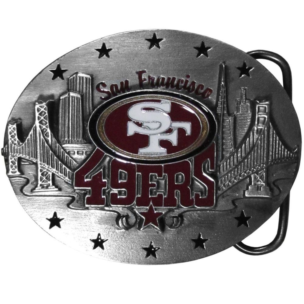 08a348e1 49ers of San Francisco Belt Buckle NFL Licensed Team Football ...