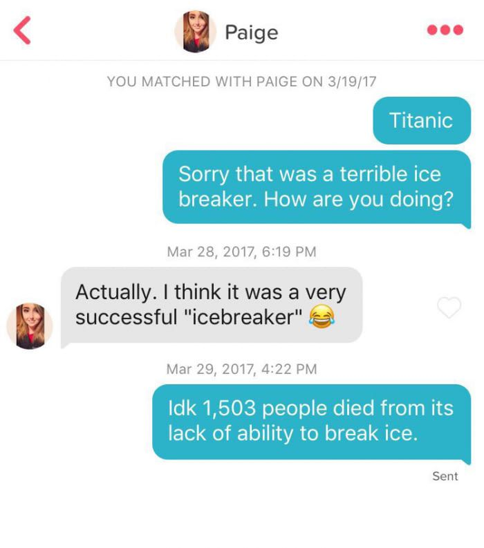 witty icebreakers for online dating