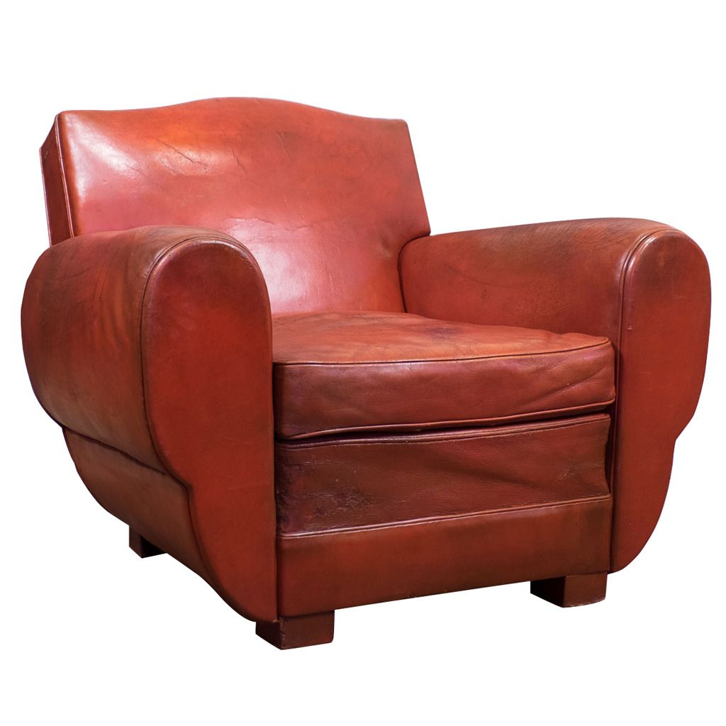 Superb French Vintage Red Leather Club Chair | From A Unique Collection Of  Antique And Modern Club Chairs At ...