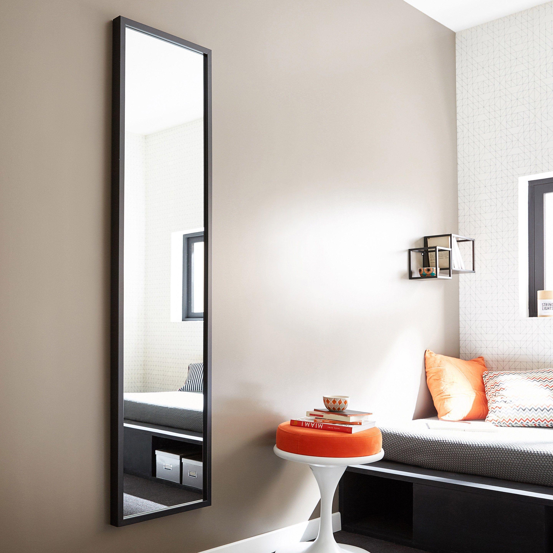 Miroir Rectangulaire Pure Noir L 40 X H 160 Cm Miroir Rectangulaire Miroir Design Miroir Mural