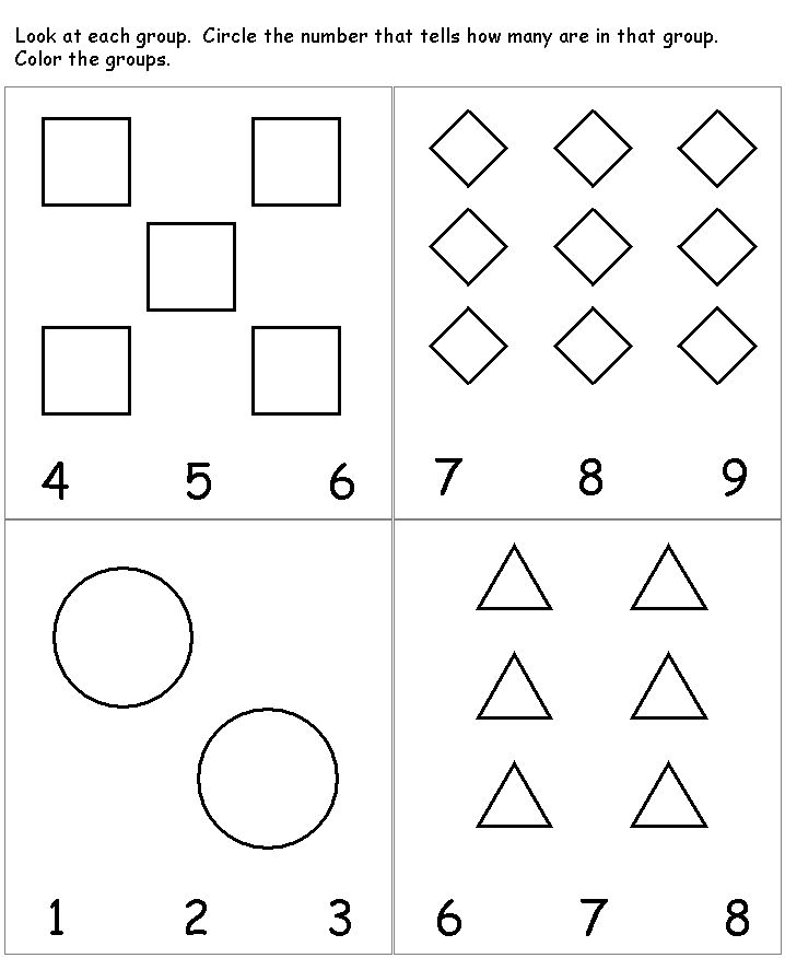 Worksheets For 4 Year Olds Counting In 2020 With Images