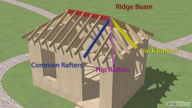 How To Build A Hip Roof Hip Roof Roof Framing Gazebo Roof