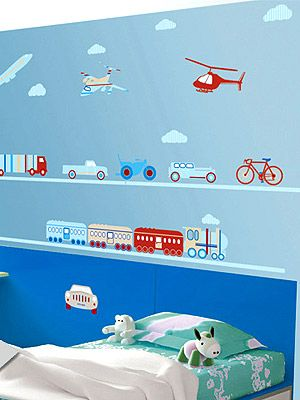 Bosco Bear Removable Wall Decals: Planes, Trains And Automobiles  Http://celebritybabies