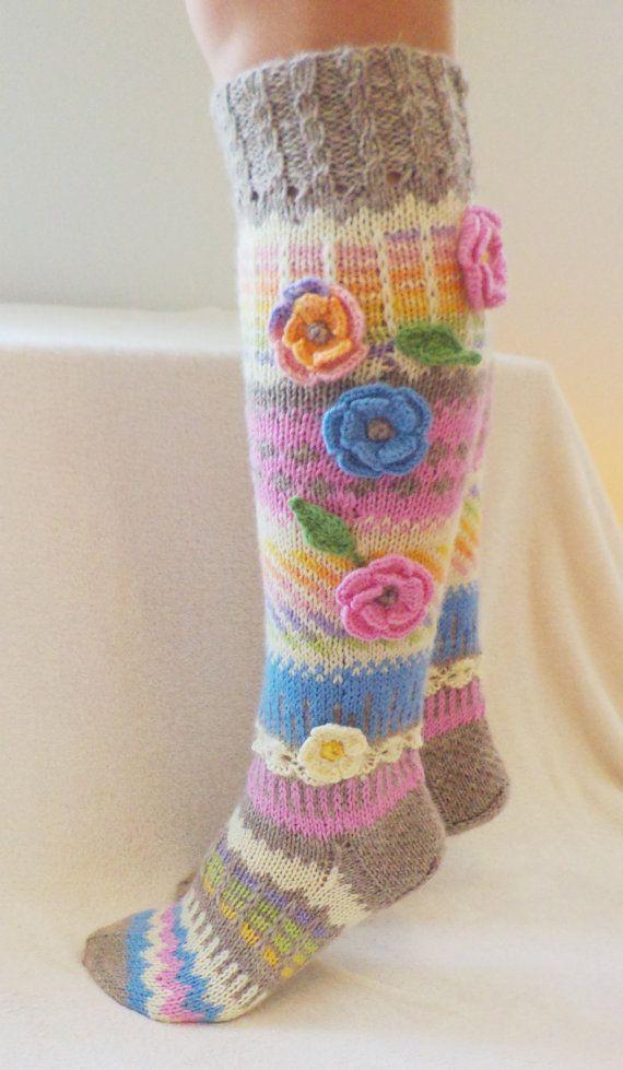 Hand Knit Knee Socks | Stricken | Pinterest | Strümpfe/Socken ...
