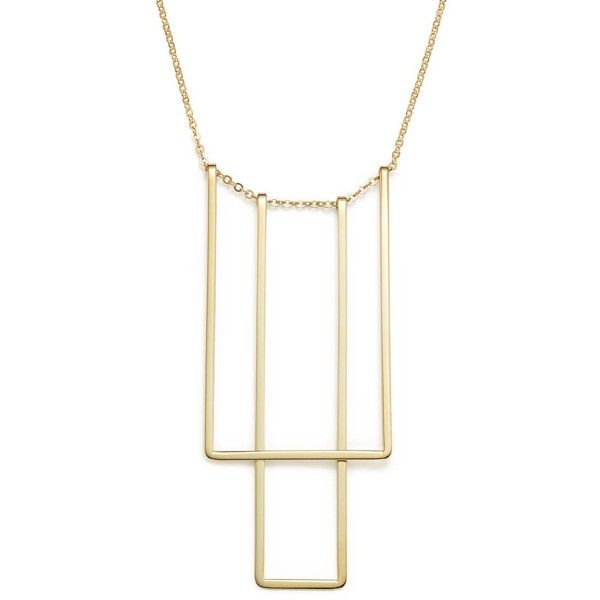 14K Yellow Gold Simple Square Bib Necklace, 17 ($960) ❤ liked on Polyvore featuring jewelry, necklaces, yellow gold, gold bib necklace, 14k jewelry, yellow gold necklace, gold jewellery and 14k gold jewelry