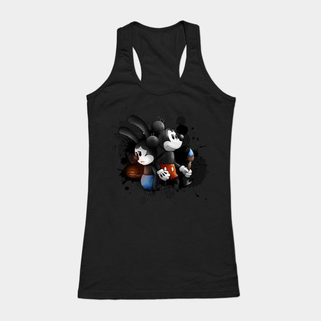 Mickey And Oswald Womens Tank Top