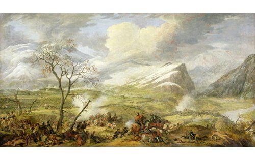 Photo of East Urban Home Poster The Battle of Rivoli on The 14th January 1797, Kunstdruck von Baron Louis Albert Bacler d'Albe | Wayfair.de