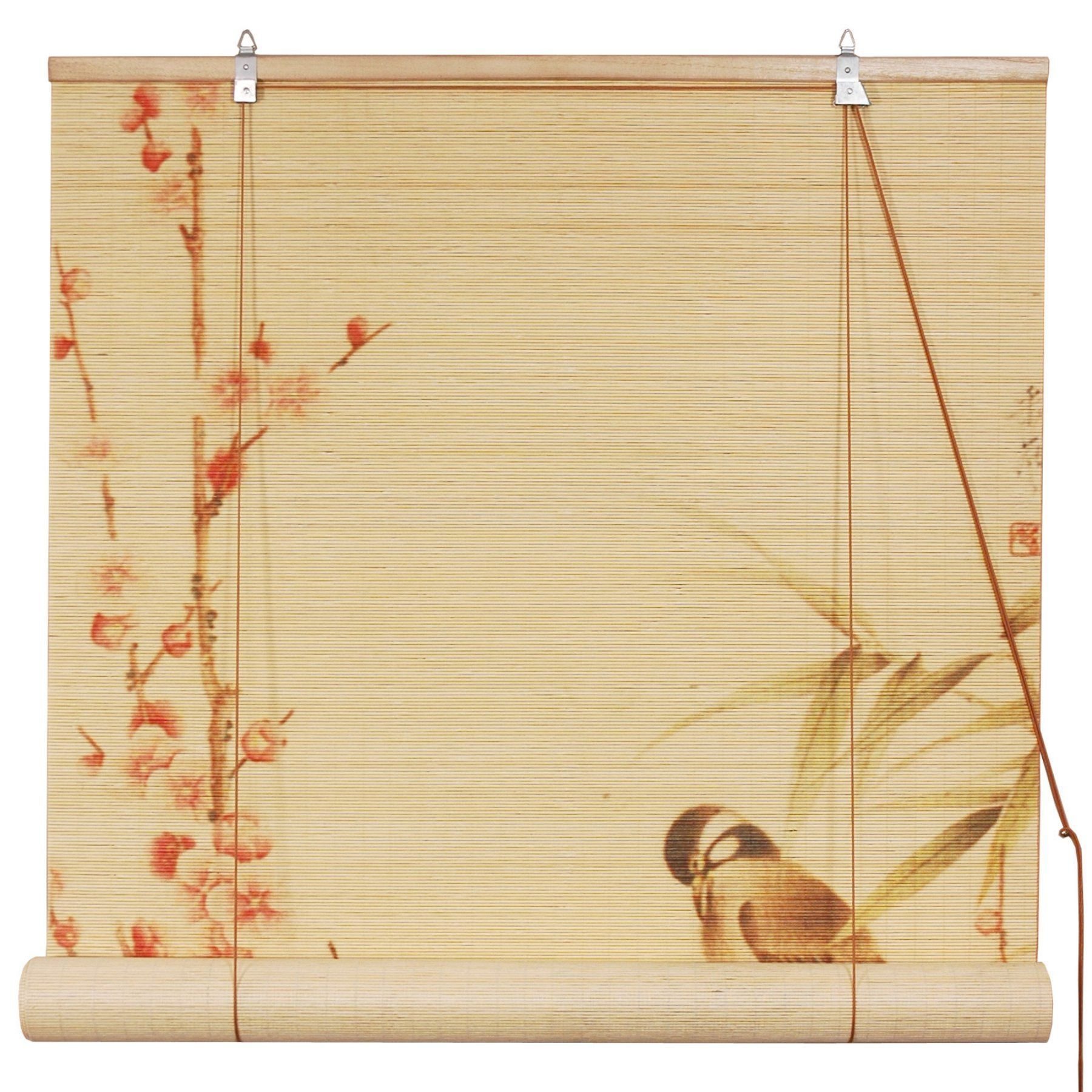 Oriental Unlimited Love Birds Bamboo Blinds  Wtloveb 36W