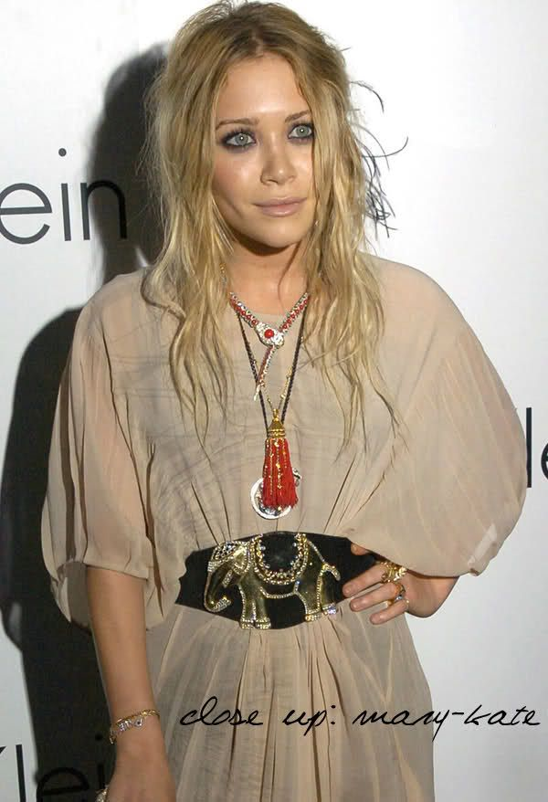 7b1072590 Mary-Kate Olsen goes boho-chic in a sheer dress and embellished belt.  #style #fashion #olsentwins